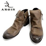 ARGISアルジス*12112(DARKBROWN:ダークブラウン)本革革靴メンズカジュアルサイドジップブーツジッパーブーツこげ茶色=送料無料=【日本製】【RCP】10P04Aug13