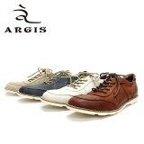 【w25】 ARGIS アルジス 11133 スニーカー 本革 革靴 メンズ 白底 レザー/茶・白・ネイビー 紺 スエード:ベージュ/グレー・ベージュ 【送料無料 日本製】