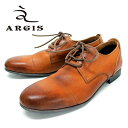 ARGIS アルジス91102 BROWN 外羽根ストレートチップ本革 革靴 靴 カジュアルシューズ メンズ 茶【日本製】【店頭受取対応商品】