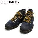【スーパーSALE限定半額】 BOEMOS ボエモス 4394 マウンテンブーツ  ボア付き(NAVY:ネイビー)  スエード 本革 革靴 メンズ 青 紺  【送料無料 イタリア製 インポート】 10P05Nov16