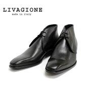 ◎ 【ブーツ】 はきじわあり Livagione リバジオーネ 807 チャッカブーツ ビジネス ブラック 黒 本革 革靴 = 送料無料 =【イタリア製】 インポート 【RCP】 5002014