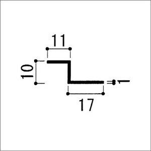 アルミZ型アングル 1.0x10x11x17x...の紹介画像2