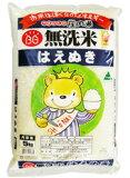 お米はぼくらのエネルギー 山形の庄内米 【平成26年産】新米無洗米はえぬき 5kg