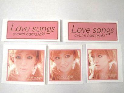 浜崎あゆみ  Love Songs ステッカーセット