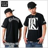 【★あす楽対応★】RICHEND/リッチエンド Tシャツ 【RE LOGO】 ブラック×ホワイト AMAZING アメージング 服