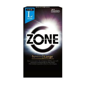 生感覚コンドーム ZONE ゾーン Lサイズ 6個入 / 大き