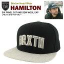 ブリクストン ハミルトン シックスパネル ウールキャップ ブラック/ライトヘザーグレー (Brixton HAMILTON SIX PANEL CUT AND SEW WOOL CAP)