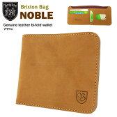 ブリクストン ノーブル ジェニュインレザー ビルフォールド ウォレット ブラウン (Brixton NOBLE Genuine leather bi-fold wallet)