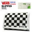 バンズ スリップド ウォレット ブラック/ホワイト (VANS SLIPPED WALLET 三つ折り財布) [USA 直輸入モデル]