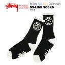 ステューシー SS-リンク ソックス ブラック (STUSSY SS-LINK SOCKS 靴下 138462)