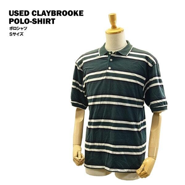 [在庫処分] USED S/S ポロシャツ グリーン/Sサイズ (CLAYBROOKE) 【あす楽対応】【楽ギフ_包装】【あす楽_土曜営業】【海外直輸入USED品】