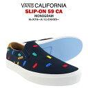 バンズ スリップオン 59 カリフォルニア モノグラム ドレスブルース/ミックスドカラー (VANS SLIP-ON 59 CA MONOGRAM スニーカー シューズ)