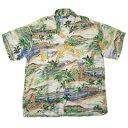 VINTAGE PENNEY'S (60's) ビンテージアロハシャツ ハワイアン柄 Hawaiian Shirt size L 【あす楽対応_東北】【あす楽対応_甲信越】【あす楽対応_北陸】【あす楽対応_関東】【あす楽対応_東海】【あす楽対応_近畿】【中古】