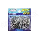 HOT`S : ホッツスプリッドリング タフネス 徳用パック#5 (100LB) 80コ入りSprit Ring Toughnessジギング スプリットリング