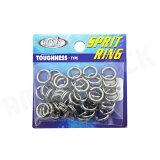 HOT'S ∶进入hottsusupuriddoringu 不知疲劳价廉而适用包#6(170LB)50个Sprit Ring Toughness铁板钓split指环【明天音乐对应】[HOT`S : ホッツスプリッドリング タフネス 徳用パック#6 (170LB) 50コ入りSprit Ring T