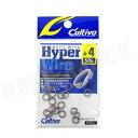 OWNER : オーナーばりCultiva ( カルティバ )ハイパーワイヤー スプリットリング #4 (50lb) 18コパックHyper Wire Split Ring P-12ジギング スロージギング【あす楽】