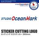 スタジオオーシャンマーク《 STUDIO Ocean Mark 》STICKER CUTTING LOGO-BRカッティング ロゴステッカー【ブルー/レッド】260mm【メール便対応】