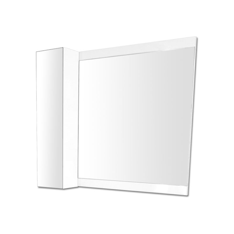 700x800mmシンプルスタイル塗装枠ミラーと200x800mmグロスホワイト塗装サイドミラーキャビネット Ambest WM8713 鏡/フレームミラー/メイクアップ/姿見/ドレッサー/化粧/寝室/居間/トイレ/洗面所/収納/洗面台/洗面化粧台/GIOGIO