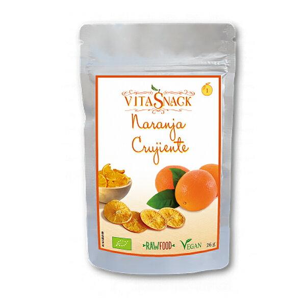 ビタスナック フルーツ・クランチ(オレンジ)【VitaSnack】有機果実のヘルシー・スナック!