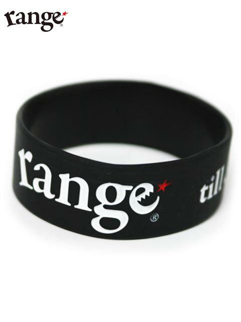 【range】シリコンバンド 黒 range rubber bracelet Black ブレスレット レンジ
