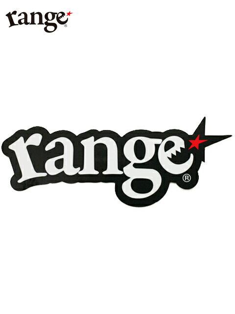 【range】ステッカー シール logo sticker 縦 約7.5cm x 横 約18.5cm