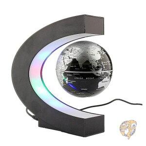地球儀 浮上 浮く地球儀  磁気浮上 世界地図 LEDラ