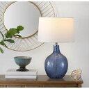 【Safavieh】テーブルランプ グラス LED Blue 照明 インテリア 寝室用ランプ アメリカ輸入家具 海外家具 お洒落なテーブルランプ