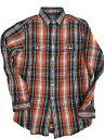 POLO RALPH LAUREN/ラルフローレンヘビーウェイトチェックシャツ orange/royal