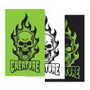 【CREATURE クリーチャー】BONEHEAD DECAL ASSORTED COLORデカール アソート ボーンヘッド ステッカー シール スケートボード スケボー sk8 skateboard