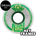 【OJ WHEELS オージェイウィール】54MM KEYFRAME CREATURE TALL CAN KEYFRAME 87A WHEELSソフトウィール ...