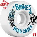 【BONES WHEELS ボーンズ ウィール】【V1】STF HEAD CASE 52mm WHEELS(4pack)【83B】ウィール ヘッドケース スケー...