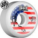 【BONES WHEELS ボーンズ ウィール】【P5】SPF PRO LASEK USA WHEEL 58mm WHEELS(4pack)【84B】ウィール ホワイト スケートボード スケボー sk8 skateboard【1610】