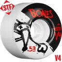 【BONES WHEELS ボーンズ ウィール】【V4】STF Standard 53mm WHEELS(4pack)【83B】ウィール スケートボード スケボ...