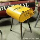 スツール 椅子 オイル缶スツール イエロー ガレージ ダメージ加工 ミリタリー 軍用 アメリカン雑貨 ヴィンテージ レトロ インテリア