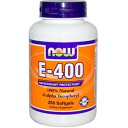 NOW E-400 100% Natural d-alpha Tocopheryl 250 softgels ナウ E-400 d-アルファ・トコフェロール配合 250粒