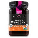 Wedderspoon Organic, Inc., 100% Raw Manuka Honey, KFactor 16, 17.6 oz (500 g)/ ウェダースプーン・オーガニック, 100%生マヌカ蜂蜜 Kファクター16