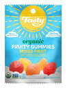 Tasty brand organic fruty snacks mixed fruit 0.8oz X 5pack set 【訳あり/商品ダメージ/賞味期限間近2018年7月28日】