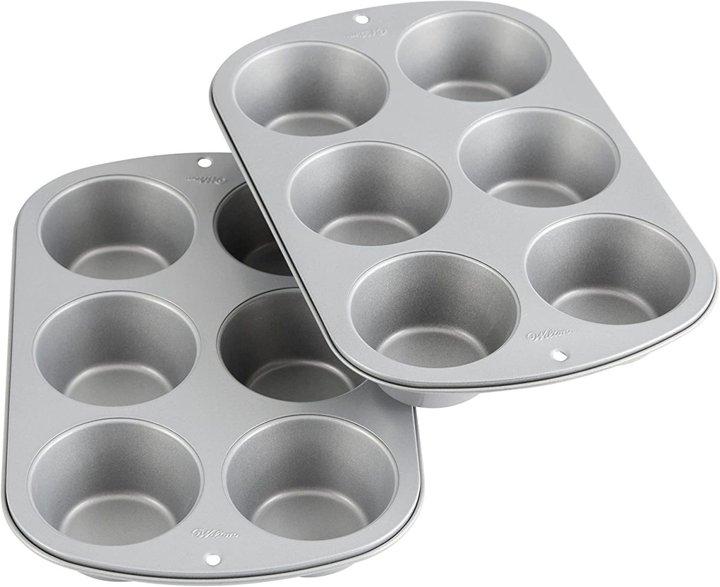 Recipe Right ノンスティック 6穴 ジャンボマフィンパン 2枚セット (ウィルトン)