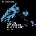 【メール便送料無料】Sonny Rollins Trio/Horace Silver Quintet / Zurich 1959: Swiss Radio Days Vol 40 (輸入盤CD)【K2016/4/29発売】 (ソニー・ロリンズ)