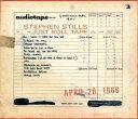 Stephen Stills / Just Roll Tape: April 26Th 1968 (180 Gram Vinyl)【輸入盤LPレコード】(スティーブン スティルス)
