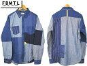 FDMTL ファンダメンタル BORO INDIGO SHIRT デニムシャツ SH35A インディゴ