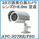屋外用カメラAVC-307RE/F80・CCD搭載白黒防犯カメラ・レンズ=望遠タイプ・ホームセキュリティ [its]