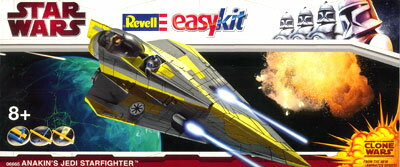 Revell Germany Star Wars Easy Kit - Plastic Model - Anakin's Jedi Star Fighter (Clone Wars Version)