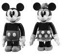 キューブリック No.259 ミッキーマウス&ミニーマウス(ブラック&ホワイトver.)[メディコム・トイ]《発売済・在庫品》