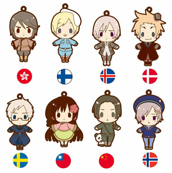 es Series nino Rubber Strap Collection - Hetalia Part.2 BOX