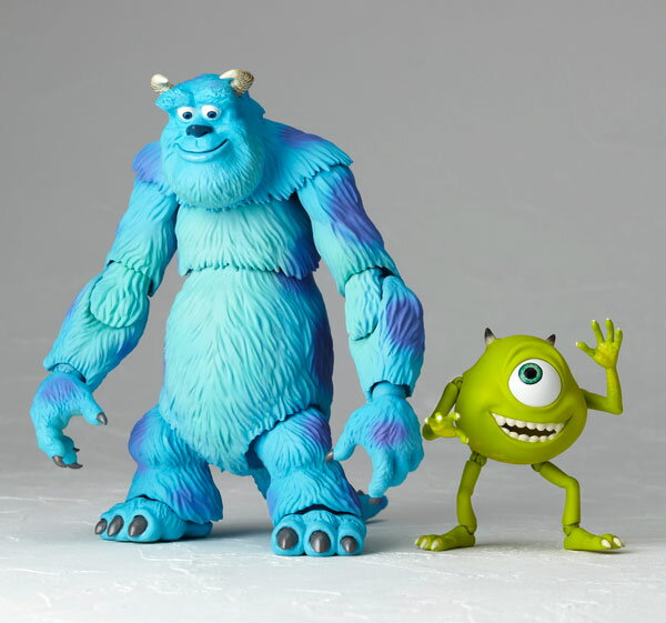 Tokusatsu Revoltech No.028 Monsters' Inc. Sulley & Mike(Released)(特撮リボルテック No.028 モンスターズ・インク サリーとマイク)