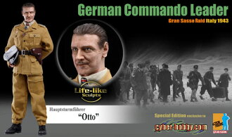 "1/6 WW.II German Army Waffen-SS Lieutenant Colonel ""Otto"" Gran Sasso raid Italy 1943 Action Figure"