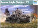 1/35 ドイツ軍 プラガ38(t)軽戦車 E/F型 プラモデル(再販)[トランペッターモデル]《発売済・在庫品》
