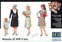 1/35 欧州民間女性フィギア第二次大戦期-女性3体+女児1体 プラモデル(再販)[マスターボックス]《取り寄せ※暫定》