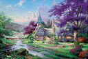 Jigsaw puzzle Thomas Kinkaid clock tower cottage 1000 micropeace (M81-825)[ Beverly] 《 order ※ tentativeness 》